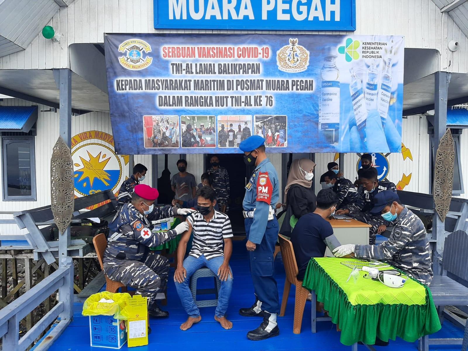 Pangkalan TNI AL Balikpapan Serbu Muara Jawa dan Batu Ampar dengan Vaksin